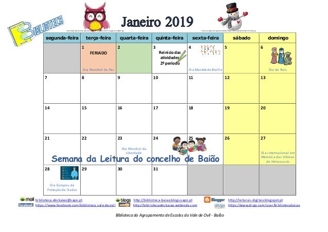 Biblioteca do Agrupamento de Escolas do Vale de Ovil - Bai�o segunda-feira ter�a-feira quarta-feira quinta-feira sexta-fei...