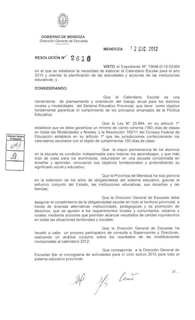 GOBIERNO DE MENDOZA     DirecciOn General de Escuelas                                          MENDOZA          1 2 DiC 20...