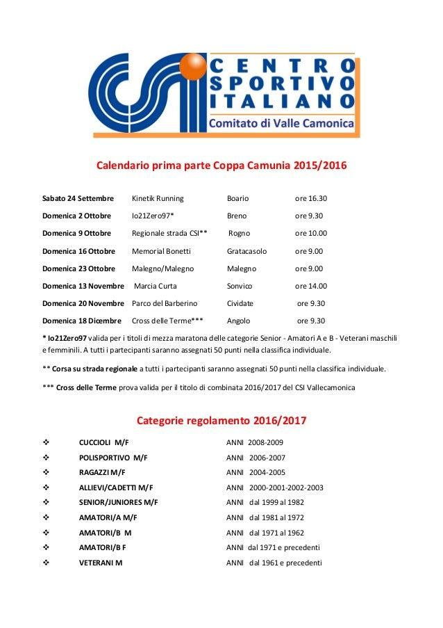 Calendario Csi.Csi Vallecamonica Calendario Prima Parte Coppa Camunia 2017