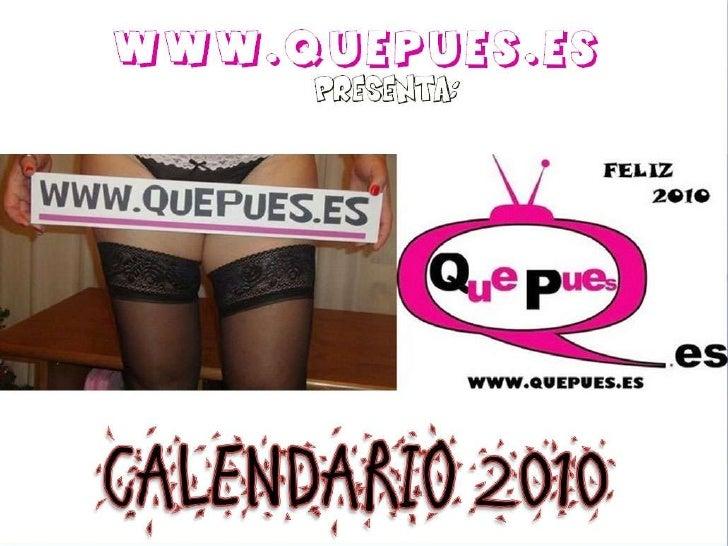 Calendario Quepues 2010