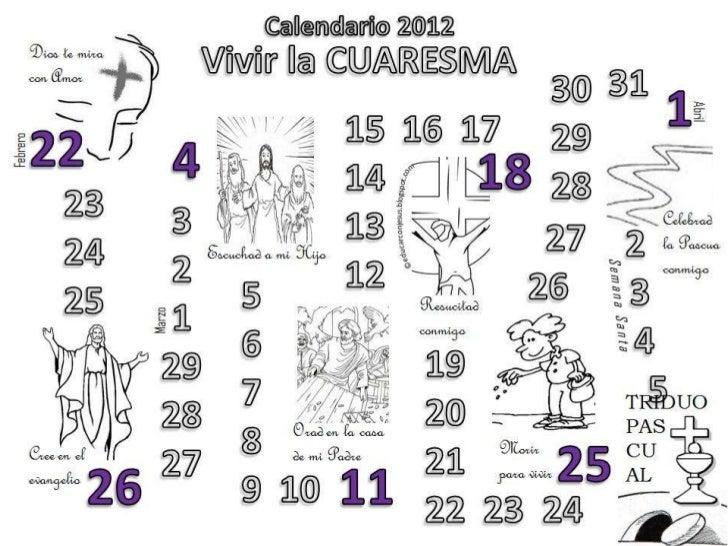 Calendarios cuaresma 2012 internet