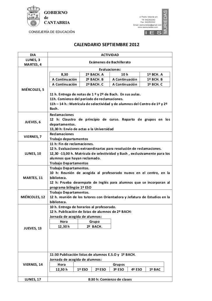 GOBIERNO               de               CANTABRIA    CONSEJERÍA DE EDUCACIÓN                              CALENDARIO SEPTI...