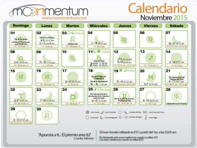 Calendario para corte de cabello noviembre 2015