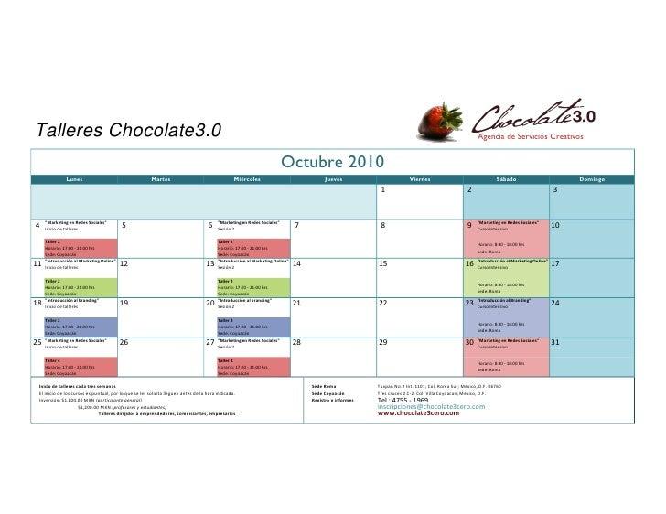 Talleres Chocolate3.0                                                                                                     ...