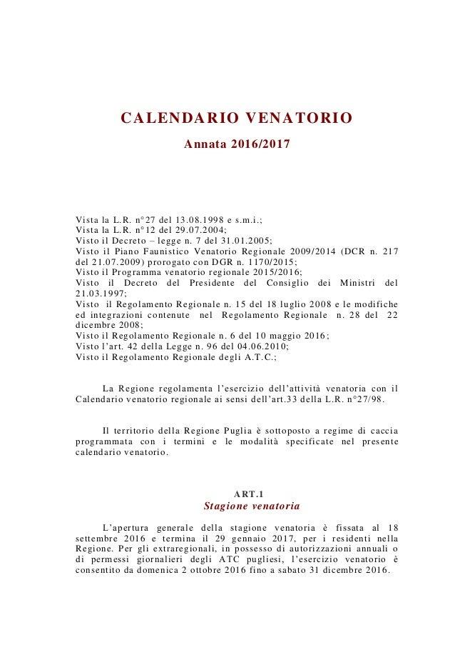 Calendario Venatorio Puglia Ultime Notizie.Calendario Venatorio Puglia 2020 Calendario 2020