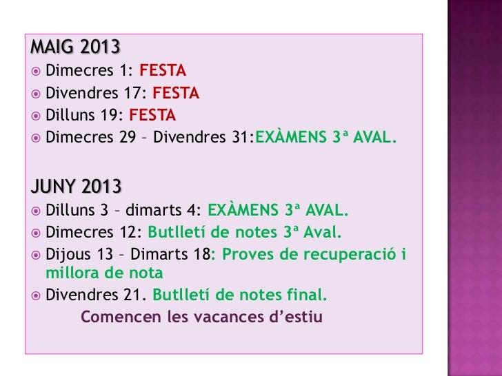 Calendari curs 12-13