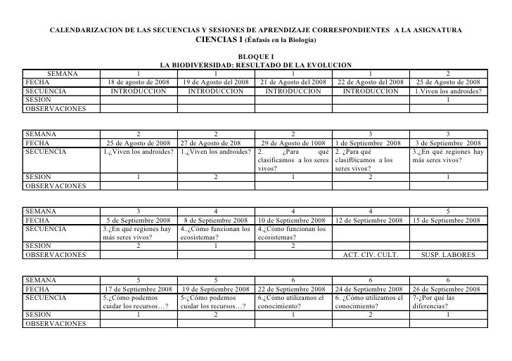 Calendarizacion plan.ciencias i