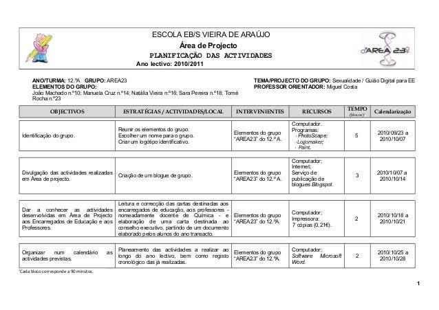 ANO/TURMA: 12.ºA GRUPO: AREA23 TEMA/PROJECTO DO GRUPO: Sexualidade / Guião Digital para EE ELEMENTOS DO GRUPO: João Machad...