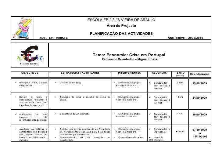 ESCOLA EB 2,3 / S VIEIRA DE ARAÚJO                                                                                Área de ...