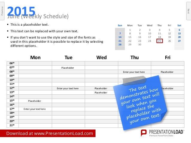 powerpoint calendars 2015 template