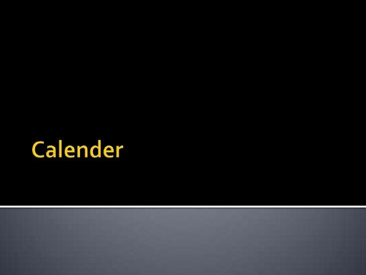 Calender<br />