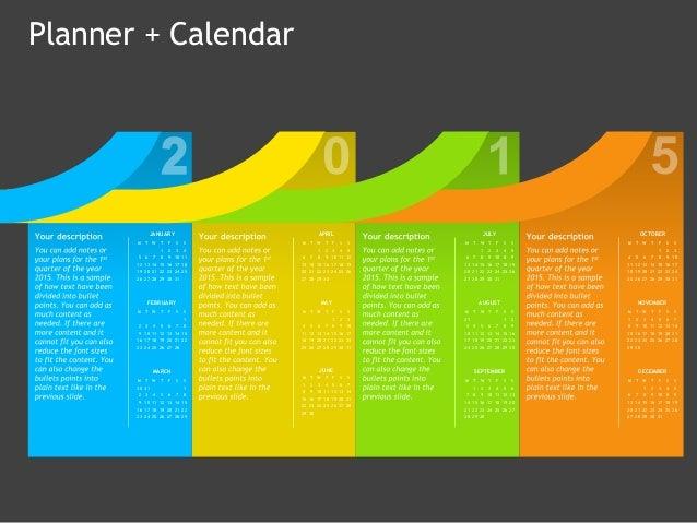 Planner Calendar Powerpoint Template