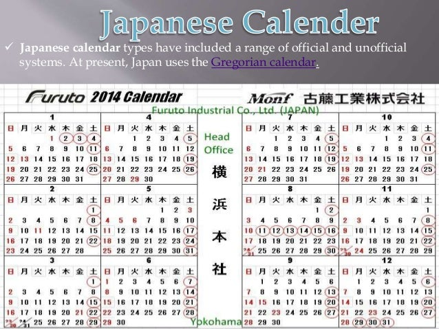 calenders of the world