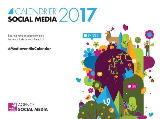 Calendrier social media 2017 !