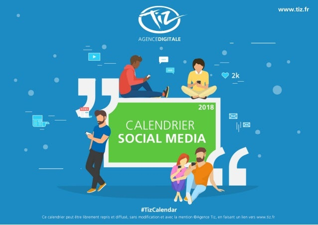 Calendrier 2018 marketing & Social Media en France