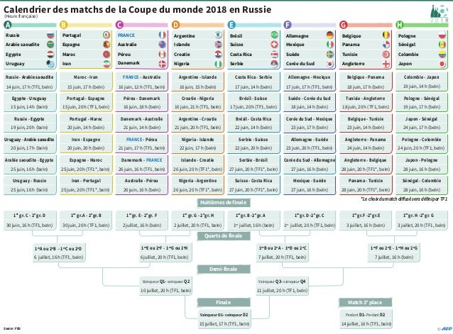 Calendrier Coupe.Calendrier Coupe Du Monde 2018