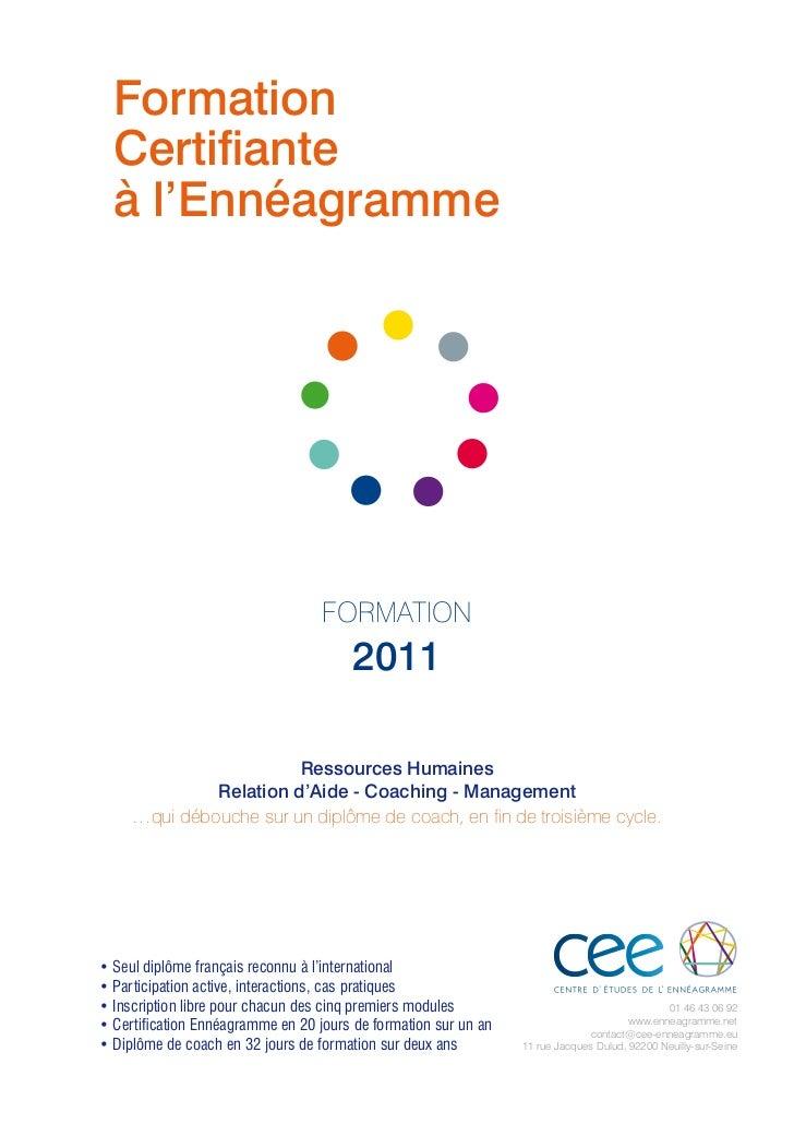 Formation  Certifiante  à l'Ennéagramme                                   formation                                       ...