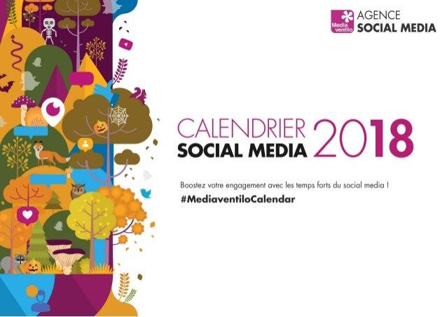 Calendrier Social Media 2018 par Mediaventilo