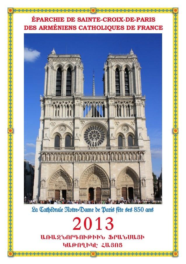 ÉPARCHIE DE SAINTE-CROIX-DE-PARISDES ARMÉNIENS CATHOLIQUES DE FRANCE                                               Source ...