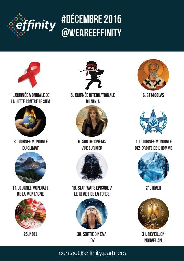 1. Journée mondiale de la lutte contre le sida 5. Journée internationale du ninja 8. Journée mondiale du climat 9. Sortie ...
