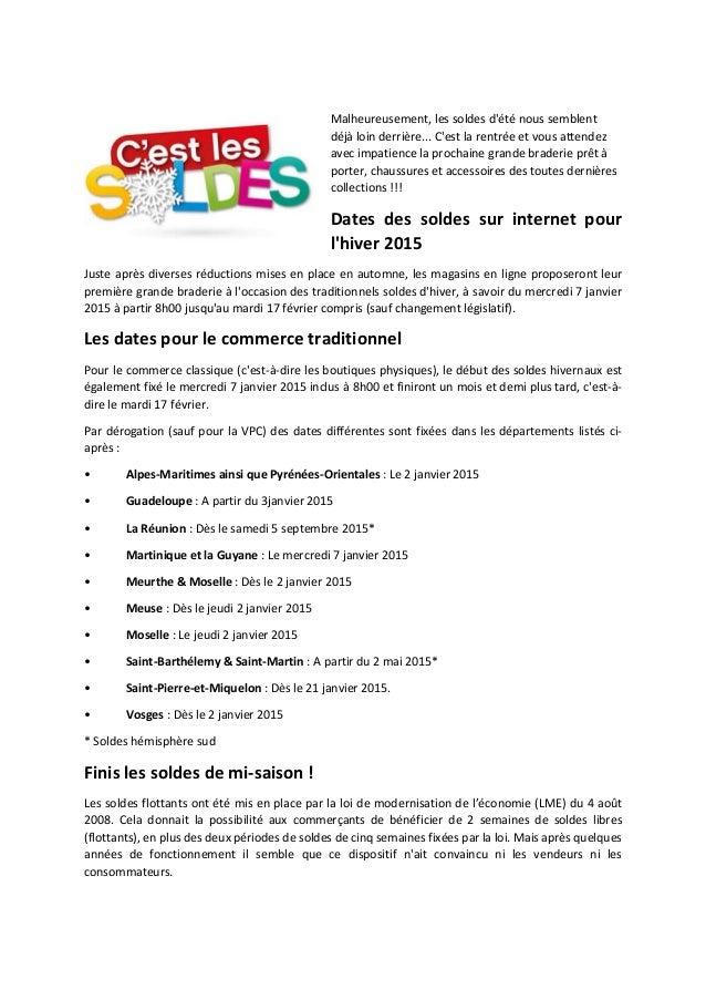 Dates Des Soldes D 39 Hiver 2015 Suppression Des Soldes