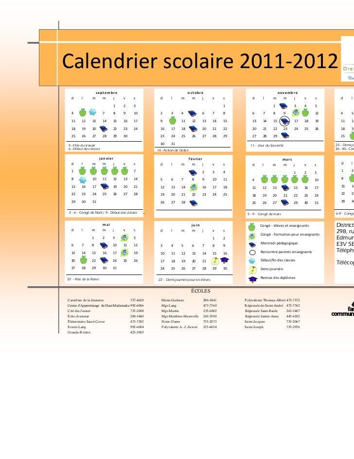 Calendrierscolaire2011‐2012                       septembre                                                 octobre  ...