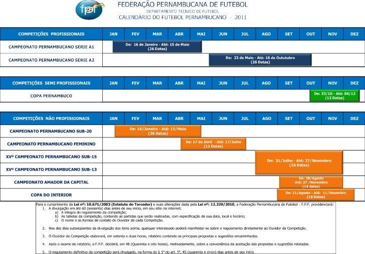 Calendário fpf
