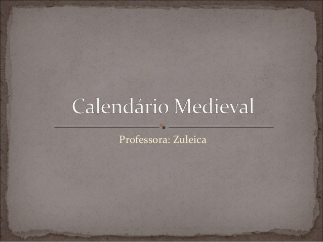 Professora: Zuleica