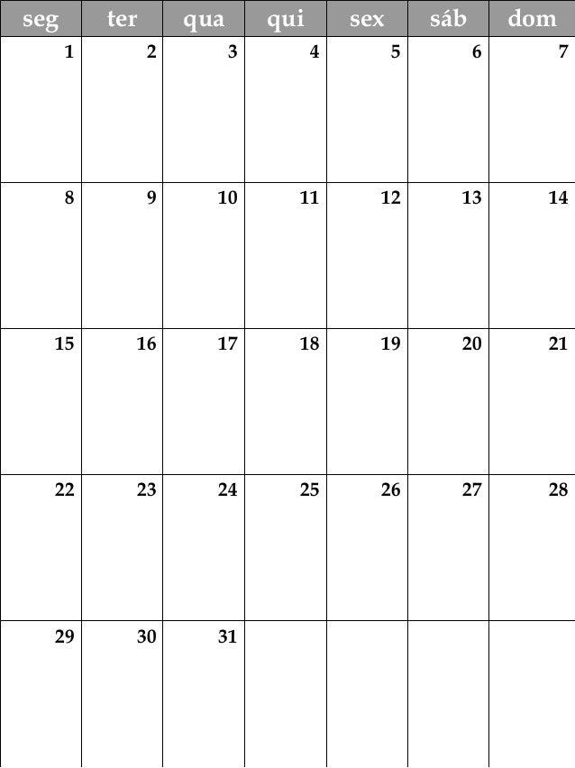 Calendário OFICINATIVA 2018 Slide 3