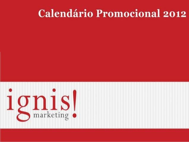 Calendário promocional ignis 2012