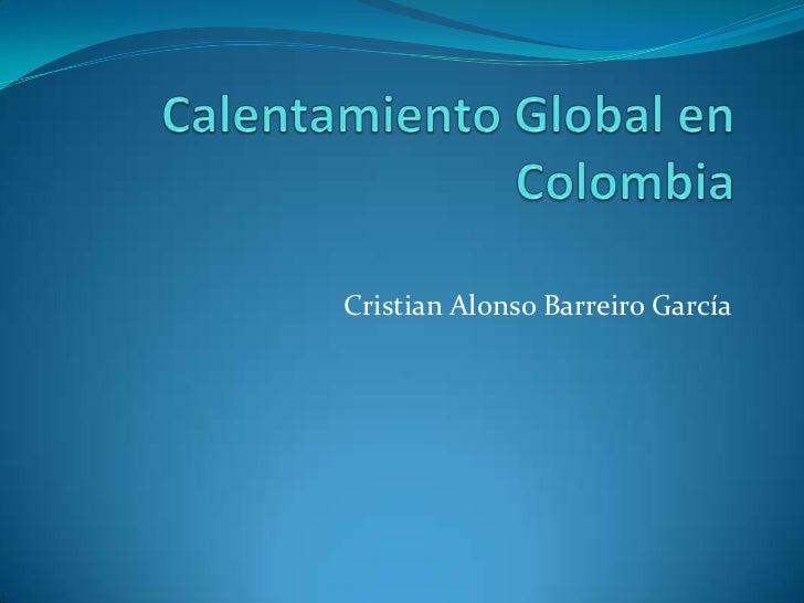 Cristian Alonso Barreiro García