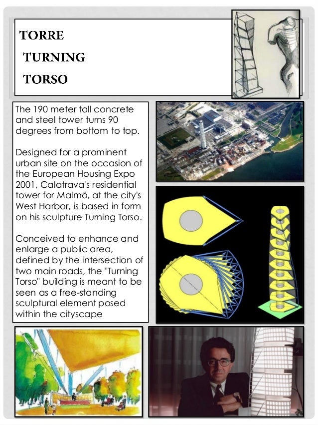 In the original sculpture of Turning Torso, seven cubes are set around a steel support to produce a spiral structure, whic...