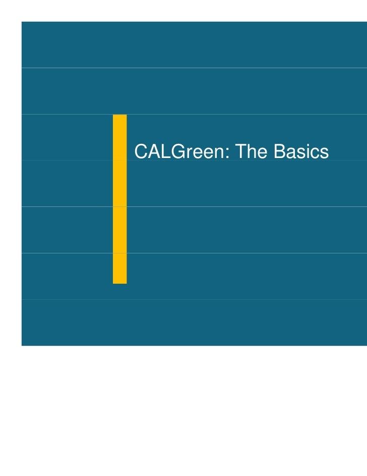 Cal Green Building Code