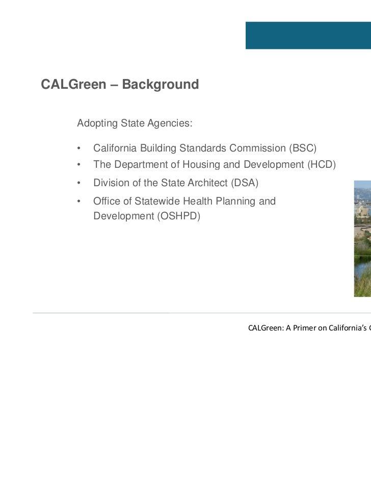 California Green Building Standards Code Part