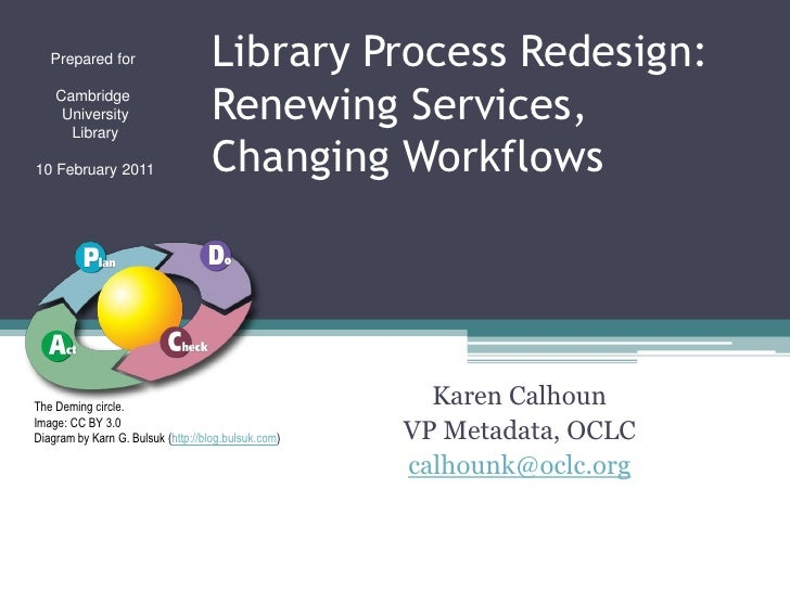 Prepared for                     Library Process Redesign:    Cambridge     University      Library                       ...