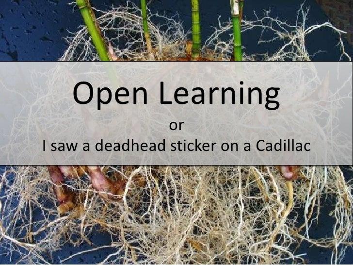 Open Learning                 orI saw a deadhead sticker on a Cadillac