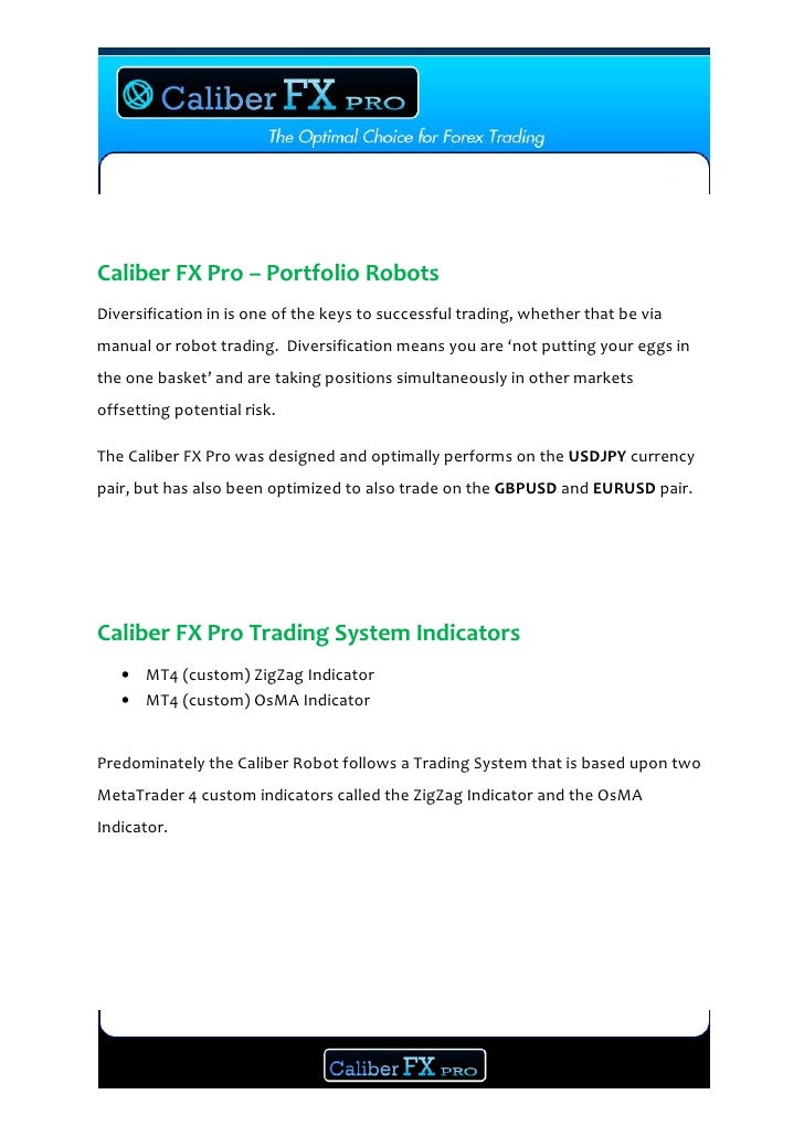 How To Forex Trade With Sucess Caliber Fx Pro System Manual