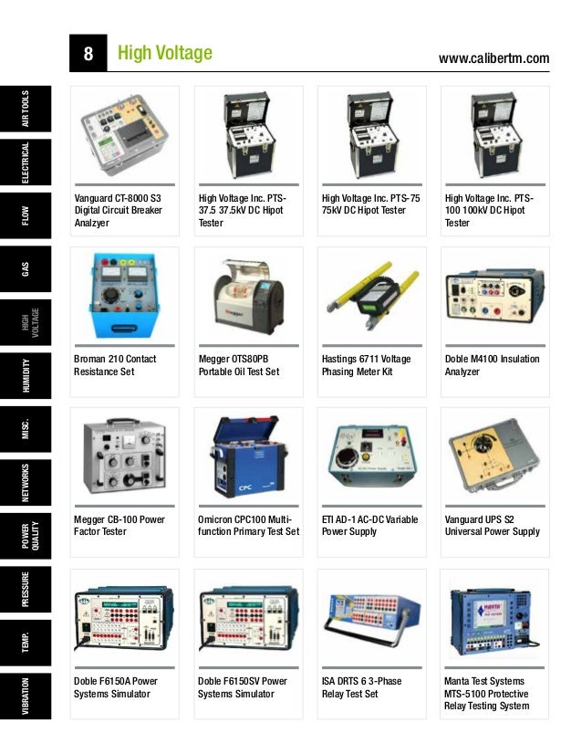 caliber test  u0026 measurement rental catalog