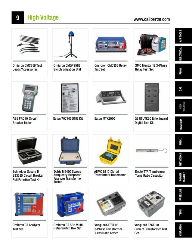 Caliber Test & MEasurement Rental Catalog