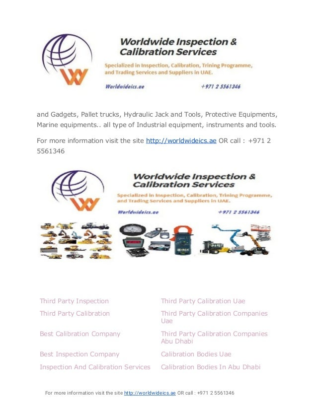 Calibration and inspection bodies in abu dhabi uae