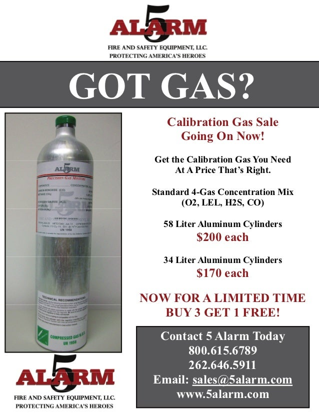 GOT GAS?       Calibration Gas Sale         Going On Now!    Get the Calibration Gas You Need         At A Price That's Ri...