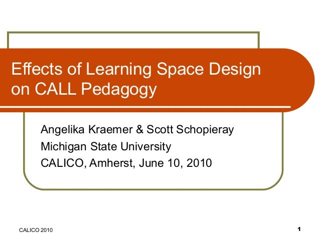 Effects of Learning Space Design on CALL Pedagogy Angelika Kraemer & Scott Schopieray Michigan State University CALICO, Am...