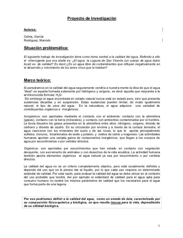 Proyecto de InvestigaciónAutores:Celina, GarcíaRodriguez, MarceloSituación problemática:El siguiente trabajo de investigac...