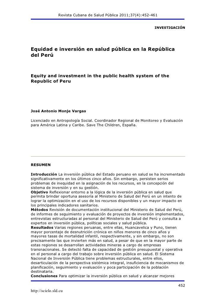 Revista Cubana de Salud Pública 2011;37(4):452-461                                                                   INVES...