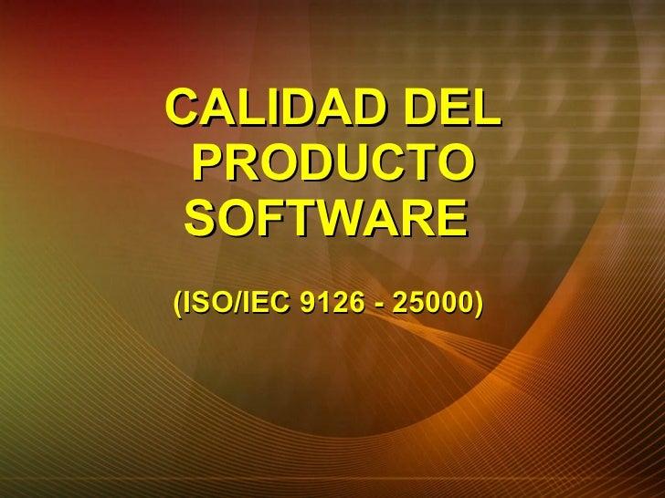 Calidad Del Producto Software Slide 2