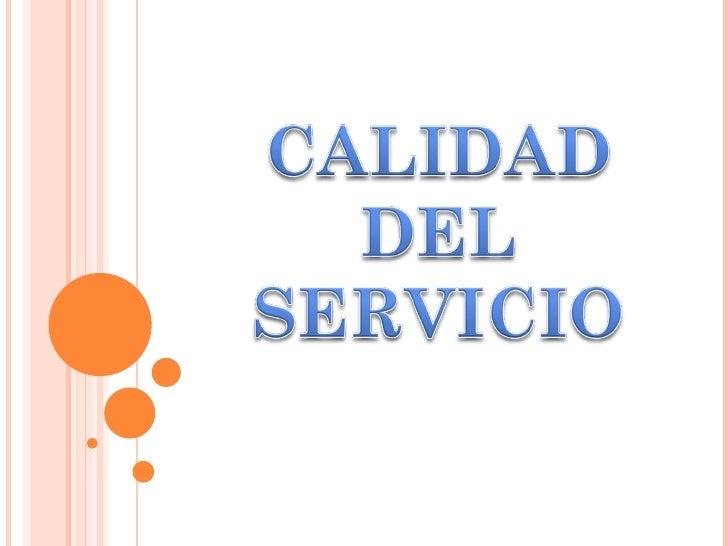 Calidad del servicio dtv   2011 Slide 1