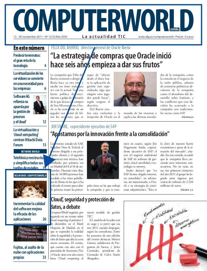 15 - 30 noviembre 2011 • Nº 1272/Año XXXI                 La actualidad TIC                                  www.idg.es/co...