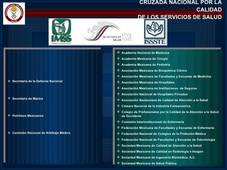 CRUZADA NACIONAL POR LA                                                                         CALIDAD                   ...