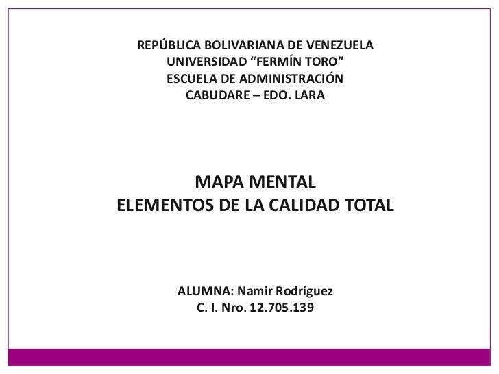 """REPÚBLICA BOLIVARIANA DE VENEZUELA<br />UNIVERSIDAD """"FERMÍN TORO""""<br />ESCUELA DE ADMINISTRACIÓN<br />CABUDARE – EDO. LARA..."""