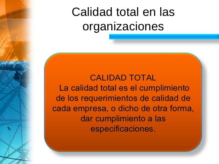 Calidad Total Slide 3